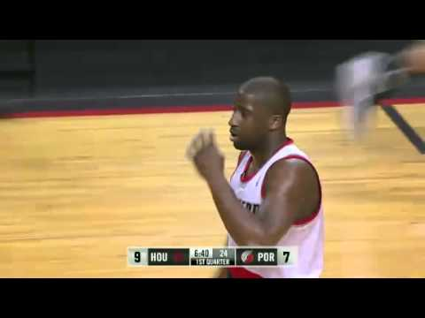 Felton to Aldridge alley oop dunk against Rockets