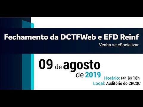 Fechamento da DCTFWeb e EFD Reinf - Venha se eSocializar