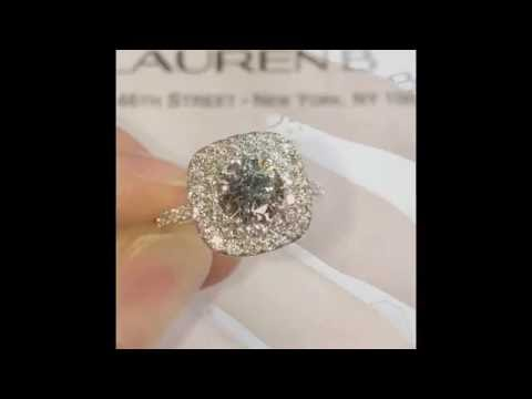 0.90 ct Round Diamond Double Halo Engagement Ring