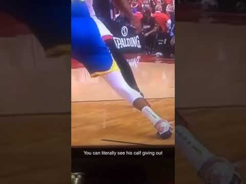 Close-Up of Durant's Achilles Popping | 2019 NBA Finals