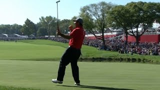 Patrick Reed and Jordan Spieth win their Foursomes match at the Ryder Cup by PGA TOUR
