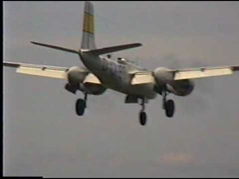 warbirds - B25, B26, TBM, F7F, Heinkel, P51 Take-offs, Landings, Taxis, Fly-by.