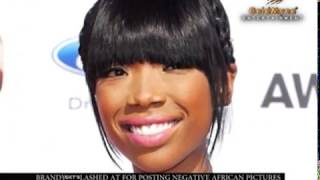 BRANDY lashed at for posting negative African pictures
