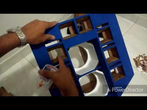 Como fazer um mini paredão de papelão passo a passo parte (3de4)