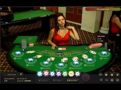 Cute pretty girl Blackjack - Malaysia Live Casino