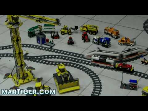 Lego  Train   City  layout  Passanger 7897  Cargo 7898