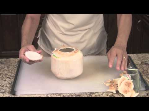 How To Cut Open A Baby Thai Coconut by Rockin Robin