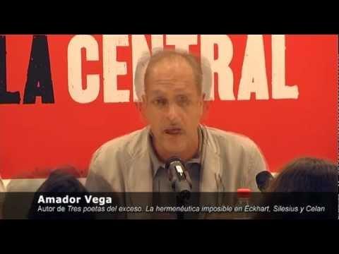 Presentación del libro 'Tres poetas del exceso', de Amador Vega