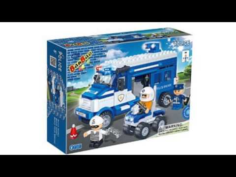 Video New tube of the Police Car Toy Building Set