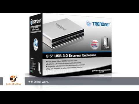 TRENDnet 3.5-Inch SATA Hard Drive Aluminum Enclosure - USB 3.0 SuperSpeed, Optimized for SATA 2