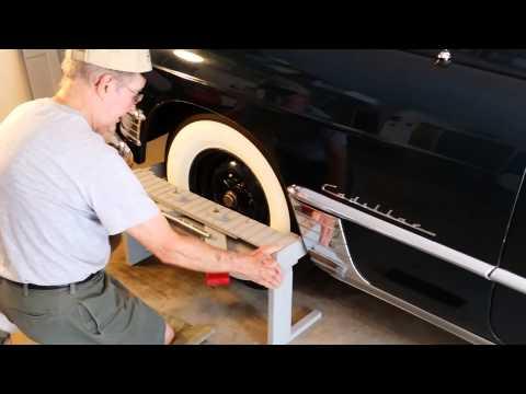 Assist Installing Sombrero Hubcap 1949 Cadillac Series 62