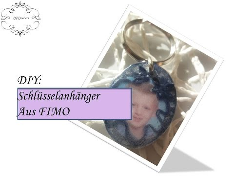 Bastelidee: Schlüsselanhänger aus FIMO mit Bild selber machen