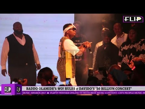 Baddo Olamide's Wo! Rules @ Davido's '30 Billion Concert'