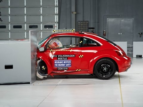 beetle - 2013 Volkswagen Beetle built after March 2013 40 mph small overlap IIHS crash test Overall evaluation: Marginal Full rating at http://www.iihs.org/ratings/ra...