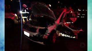 Policiais Rodoviários ficam feridos em acidente na rodovia Raposo Tavares em Sorocaba