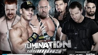 WWE Elimination Chamber 2013 John Cena Ryback And Sheamus Vs The Shield