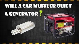 10. Quiet a generator with an automotive muffler