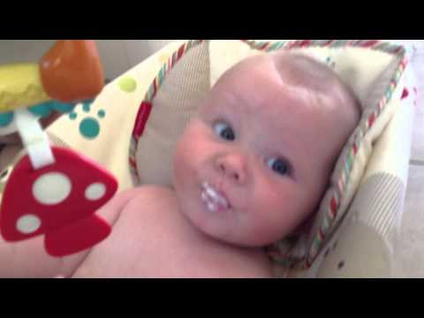 Weaning Sam at 20 weeks old – First step; Baby Rice