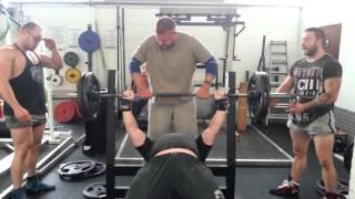9. Bench press mega set 180kgs/140/100/60/20