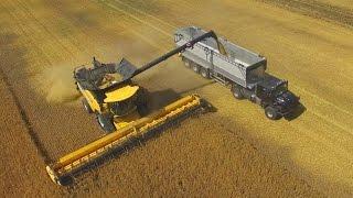 New Holland CR 10.90 TT- Der größte Rotor-Mähdrescher der Welt-12,5m-Getreideernte-barley harvester