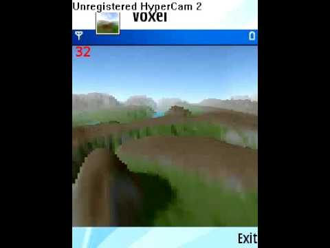 Voxel 3D game terrain engine for mobile phones J2ME