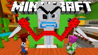 MINECRAFT TOY STORY | GIANT FORKY EATS WOODY AND BUZZ LIGHTYEAR | MINECRAFT XBOX