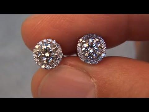 Diamond Stud Earrings Certified Jewelry