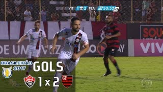 Gols - Vitória 1 x 2 Flamengo - Brasileirão 2017