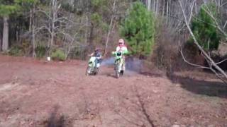 10. kx85 vs kx100 - Drag Race