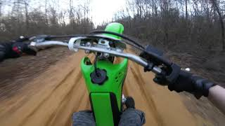 2. KLX 140 Cruising and Wheelies