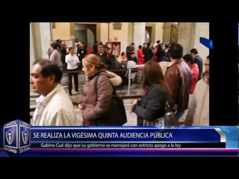 XXV Audiencia Pblica en Palacio de Gobierno 