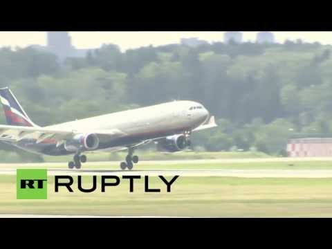 Russia: Whistleblower Snowden touches down in Moscow