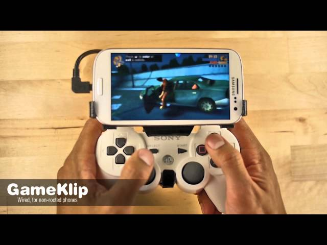 (This model has been replaced!) GameKlip™ Real controller. Real games.