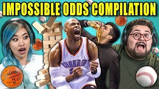 Video Adults React To Impossible Odds Compilation (Never Tell Me The Odds) MP3, 3GP, MP4, WEBM, AVI, FLV Desember 2018