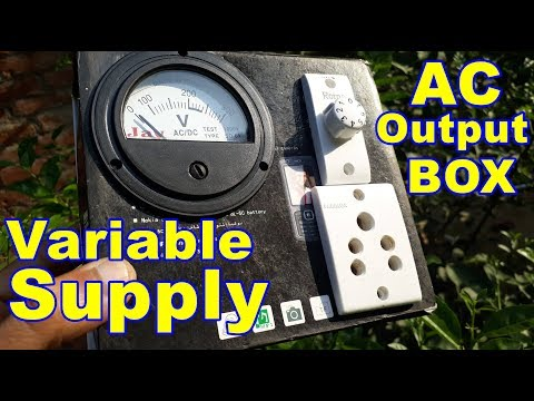 Variable AC Power Supply Box Under 80 Rs. | Appliance Life Saver Box