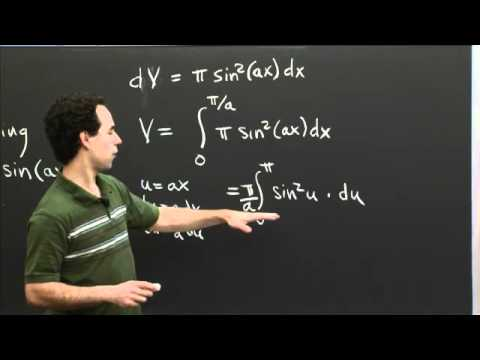 Trig Integrals and a Volume of Revolution | MIT 18.01SC Single Variable Calculus, Fall 2010