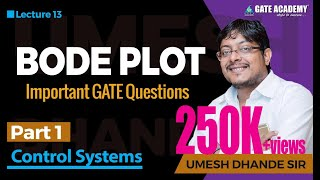 Bode Plot | Part 1 | Important GATE Questions | Control Systems