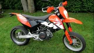 4. 2009 KTM 690 SMC Supermoto Motorcycle - Akrapovic Exhaust Sound and Walk Around