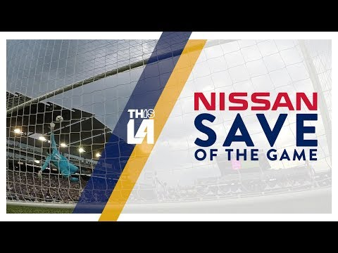 Video: Clement Diop tips a long distance effort just over the bar | Nissan Save of the Game