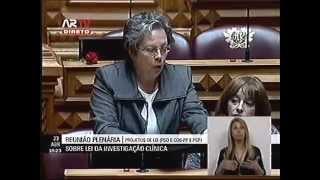 Intervenção da deputada Helena Pinto sobre a lei da investigação clínica. 23-04-2015