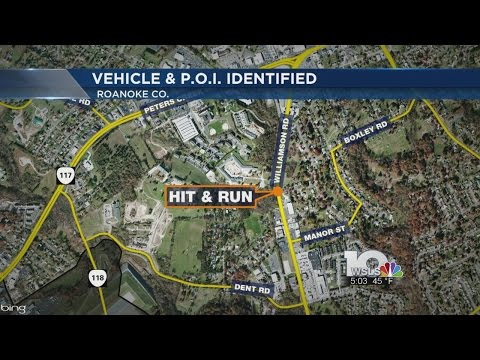 Vehicle, person of interest identified in Roanoke County hit-and-run