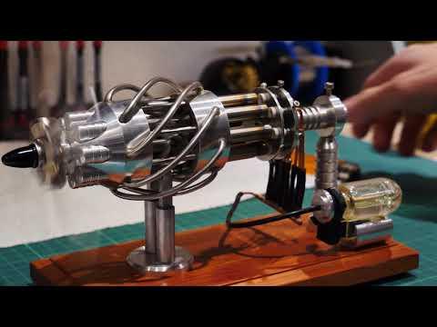 Crazy 16 Cylinder Sterling Desktop Engine Part2