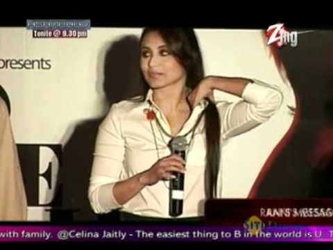 Rani Mukherji in uncomfortable clothes