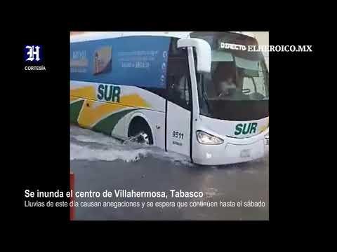 INUNDACIONES EN TABASCO OCTUBRE 2020 Lluvias inundan el centro de Villahermosa, Tabasco