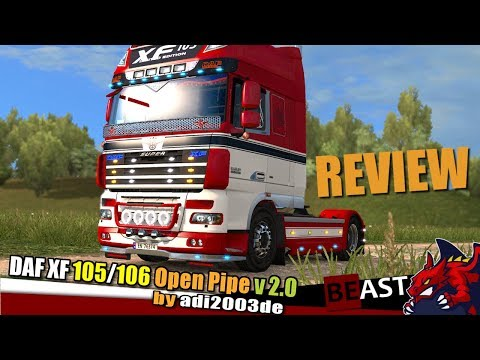 DAF XF Open Pipe v2.0 by adi2003de 1.28.x