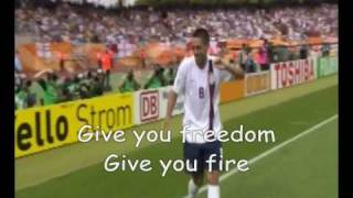 Official World Cup 2010 Song Wavin' Flag (The Celebration Remix) with Lyrics