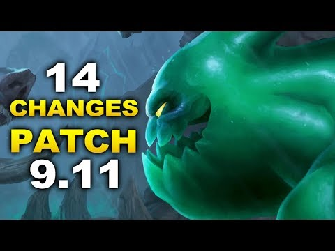 2 Updates and 14 new changes in Patch 9.11