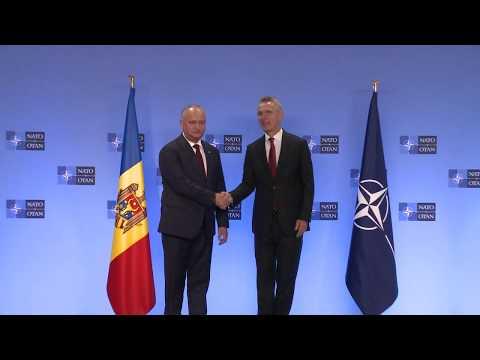 Президент Игорь Додон провел встречу с Генеральным Секретарем НАТО