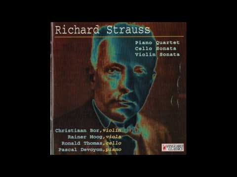 Richard Strauss (1864-1949) Piano Quartet In C Minor, Op. 13