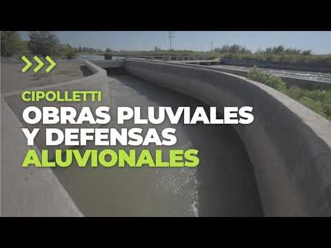 Defensas aluvionales y obras pluviales en Cipolletti